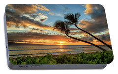 Portable Battery Charger featuring the photograph Sunset In Kaanapali by James Eddy