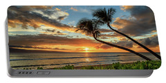 Sunset In Kaanapali Portable Battery Charger