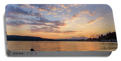 Sunset In Lake Sammamish Portable Battery Charger