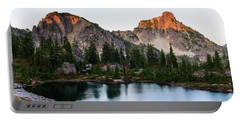 Sunset In Lila Lakes And High Box Mountain Portable Battery Charger