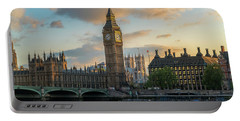 Sunset In London Westminster Portable Battery Charger