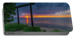 Sunset In Marquette Portable Battery Charger