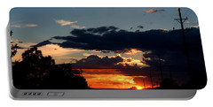 Portable Battery Charger featuring the photograph Sunset In Oil Santa Fe New Mexico by Diana Mary Sharpton