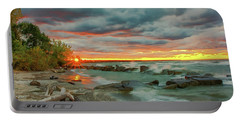 Sunset In Rocky River, Ohio Portable Battery Charger