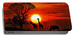 Sunset In Savannah Portable Battery Charger