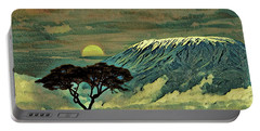 Sunset In Serengeti Portable Battery Charger