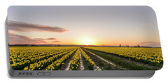 Sunset In Skagit Valley Portable Battery Charger