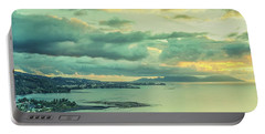 Portable Battery Charger featuring the photograph Sunset In Tahiti by Gary Slawsky