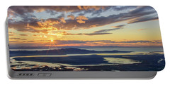 Portable Battery Charger featuring the photograph Sunset In The Desert by Bryan Carter