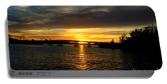 Sunset  In The Bermuda Triangle Portable Battery Charger