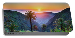 Sunset In The Canary Islands Portable Battery Charger by JR Photography