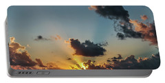 Sunset In The Caribbean Sea Portable Battery Charger