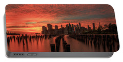 Portable Battery Charger featuring the photograph Sunset In The City by Anthony Fields