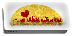 Sunset In The City Of Love Portable Battery Charger