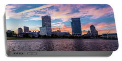 Portable Battery Charger featuring the photograph Sunset In The City by Randy Scherkenbach