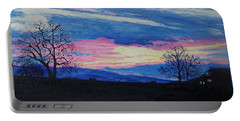 Sunset In The Country Portable Battery Charger