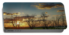 Sunset In The Fields Of Binyamina Portable Battery Charger by Arik Baltinester
