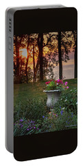 Sunset In The Flowers Portable Battery Charger