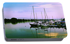 Portable Battery Charger featuring the photograph Sunset In The Harbor by Gary Wonning