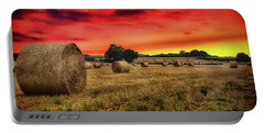 Sunset In The Hay Portable Battery Charger