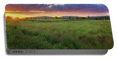 Portable Battery Charger featuring the photograph Sunset In The Hills 2017 by Bill Wakeley