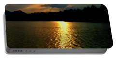 Portable Battery Charger featuring the digital art Sunset In The Smoky Mountains 1 by Chris Flees