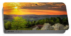 Sunset In Tioga County Pa Portable Battery Charger