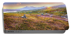 Sunset In Tundra Portable Battery Charger