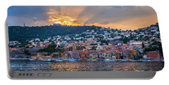 Sunset In Villefranche-sur-mer Portable Battery Charger
