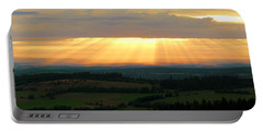 Sunset In Vogelsberg Portable Battery Charger