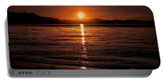 Sunset Lake 810pm Textured Portable Battery Charger