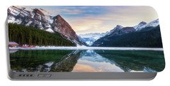 Sunset Lake Louise Portable Battery Charger
