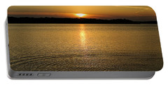 Sunset Lake Shelbyville Portable Battery Charger