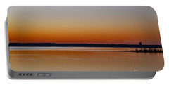 Portable Battery Charger featuring the photograph Sunset Lake Texhoma by Diana Mary Sharpton