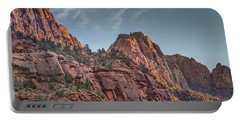 Sunset Lighting At Zion Portable Battery Charger