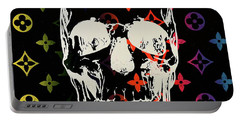 Sunset Lv Skull  Portable Battery Charger