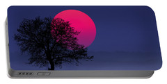 Sunset Magenta Portable Battery Charger
