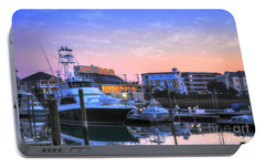 Portable Battery Charger featuring the photograph Sunset Marina by Kathy Baccari