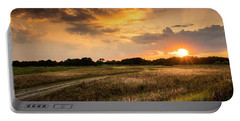 Sunset Meadow Portable Battery Charger