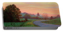 Sunset Meditation- In The Blue Ridge Mountains Portable Battery Charger