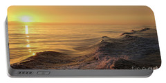 Portable Battery Charger featuring the photograph Sunset Meets Wake by Suzanne Luft