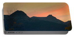 Sunset Mountain Silhouette Portable Battery Charger