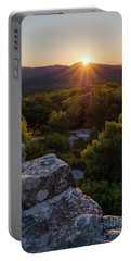 Sunset, Mt. Battie, Camden, Maine 33788-33791 Portable Battery Charger by John Bald