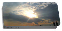 Sunset New York  Portable Battery Charger by Vannetta Ferguson