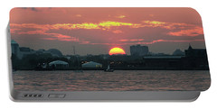 Sunset Nyc Harbor Portable Battery Charger
