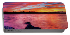 Sunset Of Fire Portable Battery Charger