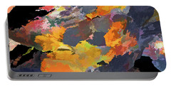 Portable Battery Charger featuring the mixed media Sunset Of The Gods 4 by Lynda Lehmann