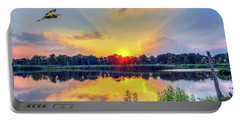 Sunset On A Chesapeake Bay Pond Portable Battery Charger