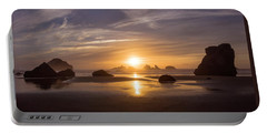 Sunset On Bandon Beach Portable Battery Charger