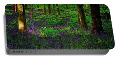 Sunset On Bluebells In Spring Portable Battery Charger